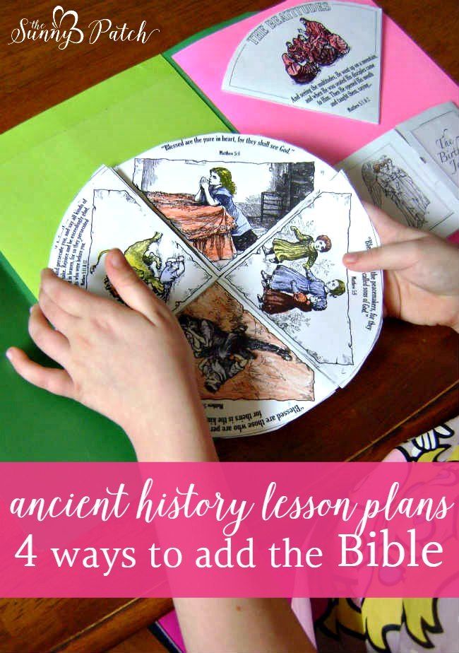 We're using 4 great resources to include the Bible in our ancient history lesson plans for middle school.