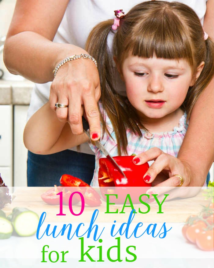 A great list of easy lunch ideas for kids - that kids can make themselves. Go beyond sandwiches and teach your kids to cook with these easy recipes.