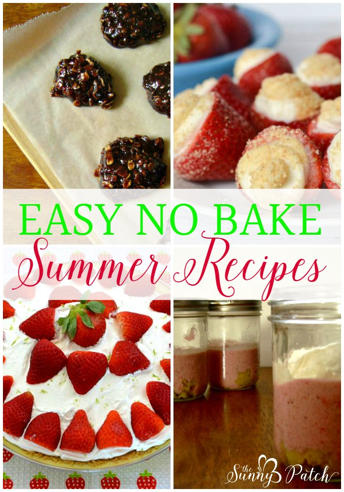 Want to avoid heating up the house when you're cooking? Try these easy no bake recipes - no heating up an oven with these easy no bake summer desserts.