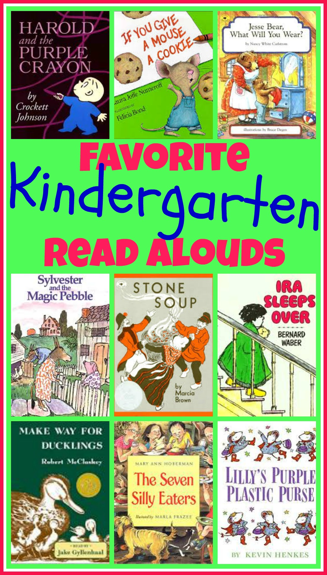 Books for kids! Looking for some great read aloud ideas for your 4 and 5 year old little ones? Here's a great list of picture books, short stories, and poetry - perfect for little ones!