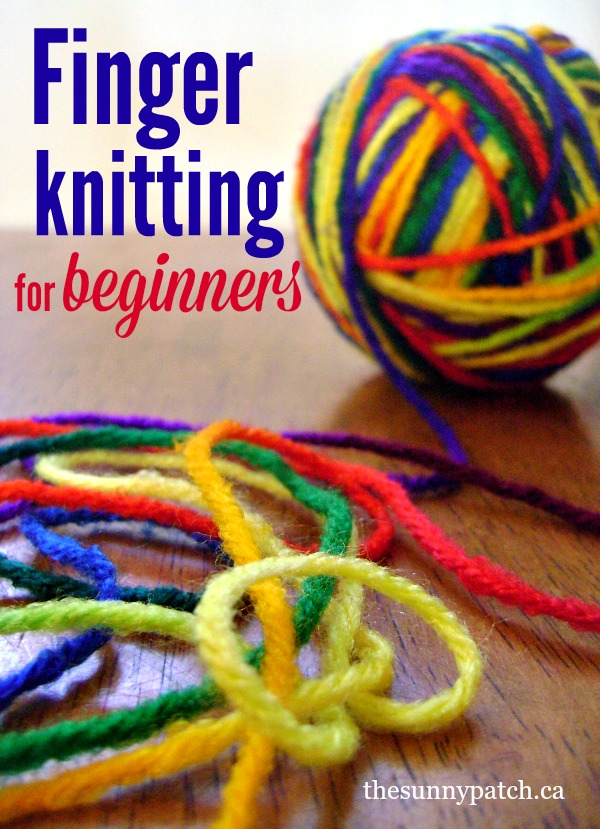 The basics of finger knitting for beginners - great pictures and instructions!