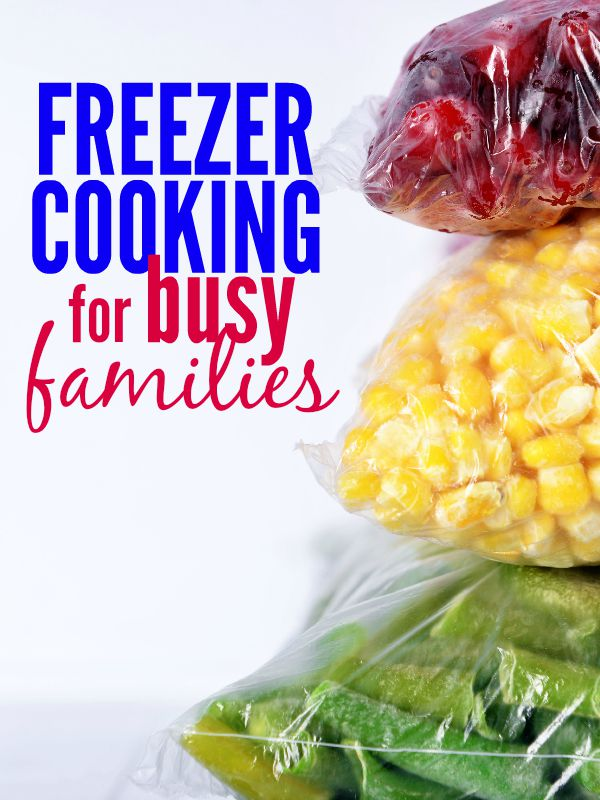 Freezer cooking can be a great way to prepare for busy times and with these freezer cooking tips for busy families, your freezer will be stocked in a flash!