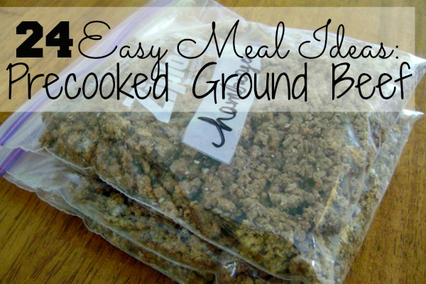 Keep your freezer stocked with precooked ground beef and you have the makings of a quick, easy meal! Check out this collection of easy meal ideas using precooked ground beef.