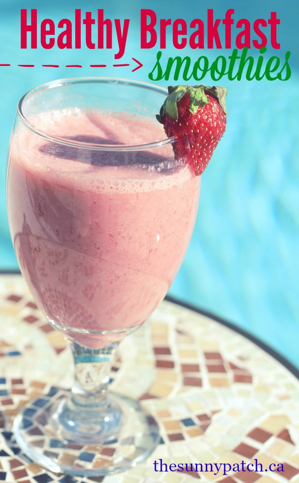 Healthy breakfast smoothies are a great way to start your day. Packed with protein and other good-for-you ingredients, you can start your day off right. Perfect for a healthy breakfast on the go.