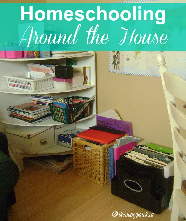 A look at how we homeschool without a dedicated homeschooling room.