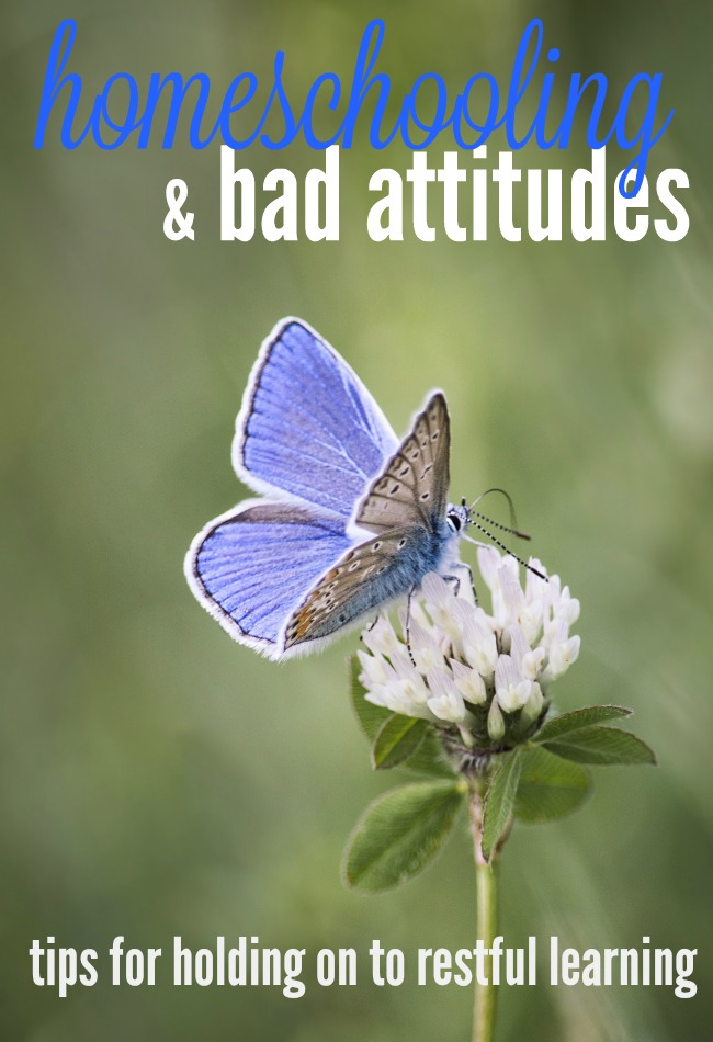Have you lost your homeschool joy because of bad attitudes? These tips will help you get your homeschool journey back on track.