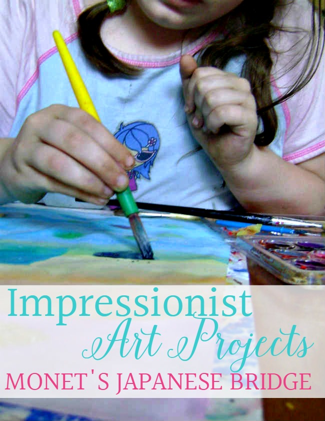 With this project you can be inspired by Monet's work. Be inspired to create your own Impressionist Art Projects for Kids: Monet's Japanese Bridge