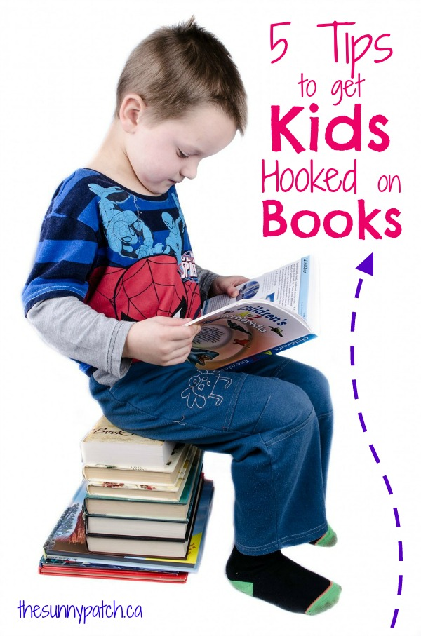 5 fab tips to get kids hooked on reading! Have a kid who isn't too fond of reading - use these tips to change his mind!