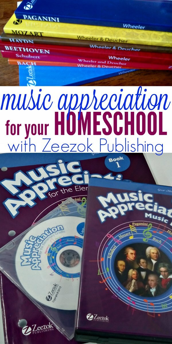 Music appreciation is so easy with the Zeezok Music Appreciation series. It includes everything you need to have a complete, well-rounded composer study in your homeschool.