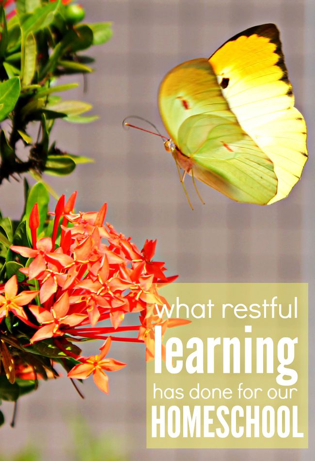 In spite of life and stress, restful learning can be achievable in any homeschool. Here's what focusing on restful learning has done for our homeschool.