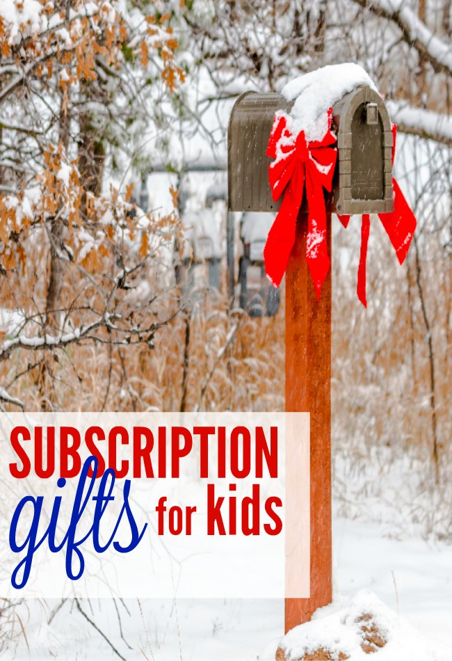 Subscription gifts are great Christmas gift ideas. Kid's love getting mail and these monthly surprises in the mailbox last much longer than one box under the tree.