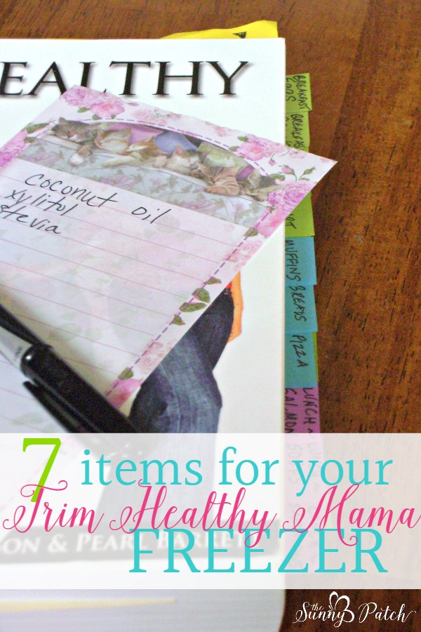 Freezer cooking for Trim Healthy Mama can be as easy as precooking a few ingredients. It's easy to keep these seven ingredients on hand. My easiest Trim Healthy Mama freezer cooking tips.