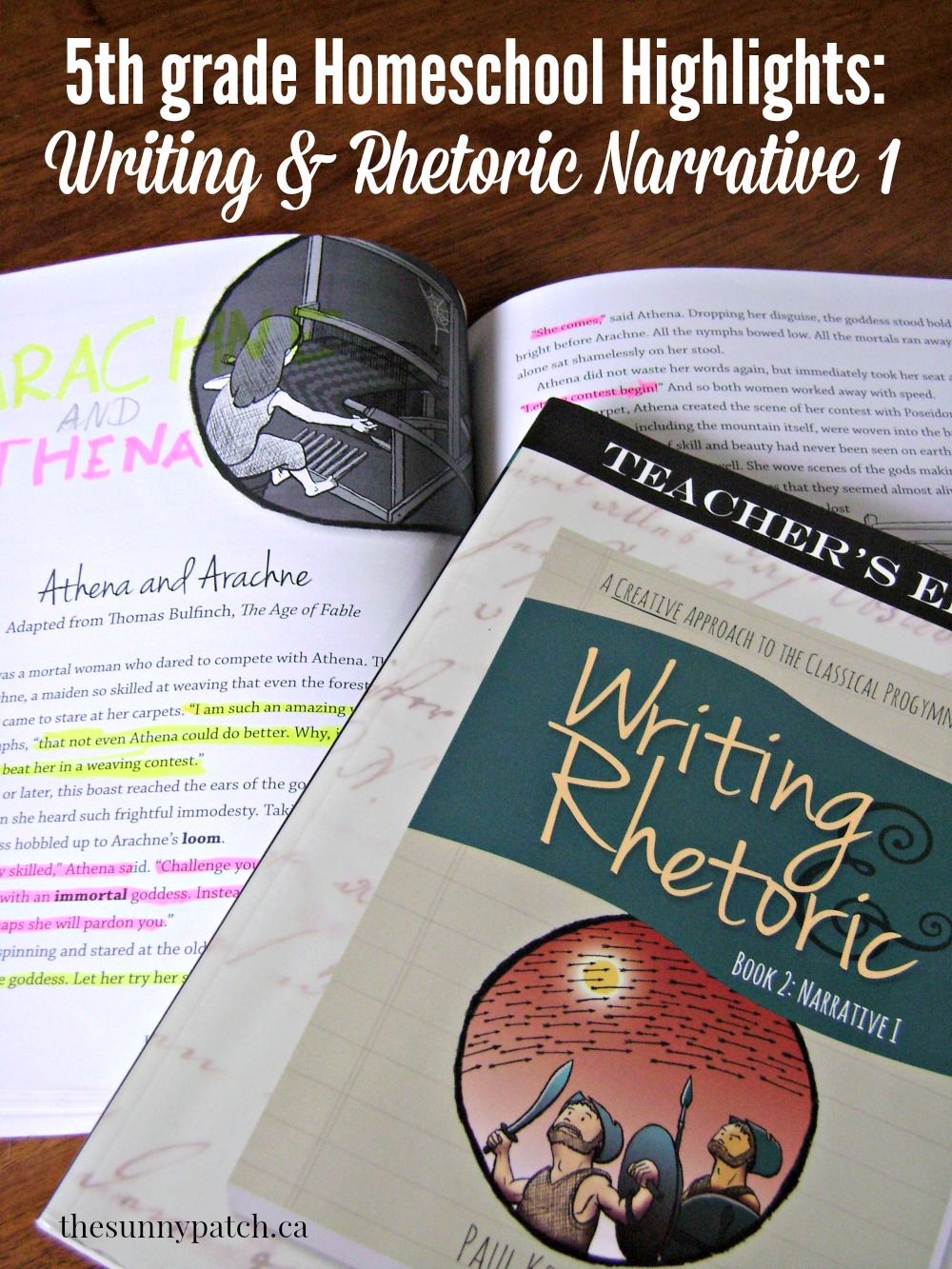 A look at Writing & Rhetoric Narrative I from Classical Academic Press. Take a peek at a week with this fab writing program.