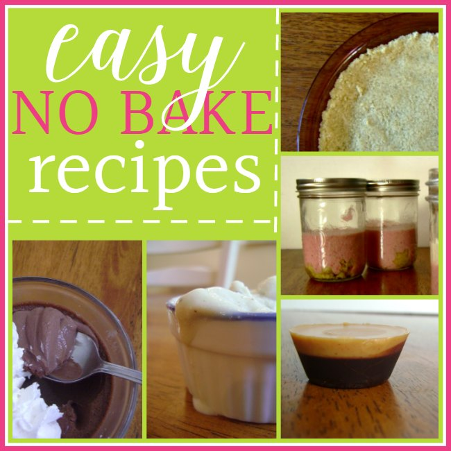 No bake cooking is a fabulously easy way to create a quick & delicious treat or dessert, especially in the summer when it's just too hot to heat up the kitchen. So check out this list of easy no bake recipes - perhaps you'll find a new summertime favorite!