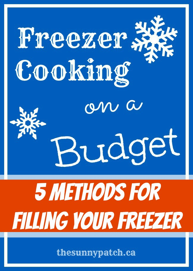 """Freezer Cooking on a Budget: 5 Methods for Filling Your Freezer (that don't include once-a-month sessions!)"""""""