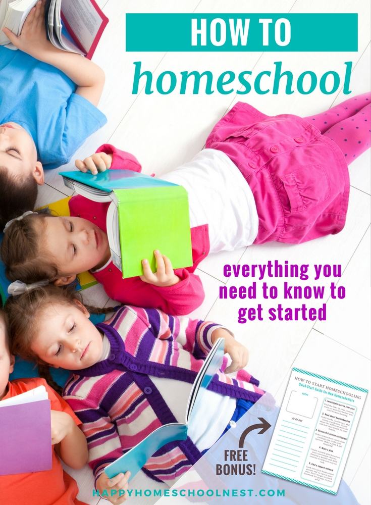 Learning how to homeschool doesn't need to be overwhelming. There are certain things every homeschooling family must do - and every step is explained in this article. Find everything you need to know to start homeschooling today!