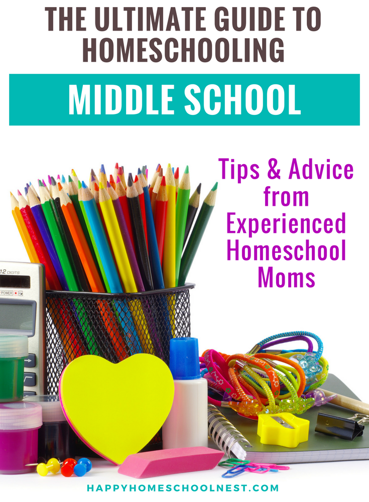 Scared of the thought of homeschooling middle school? It really doesn't have to be difficult! Read these tips about middle school homeschooling from experienced homeschool moms. They are sharing their most valuable advice!