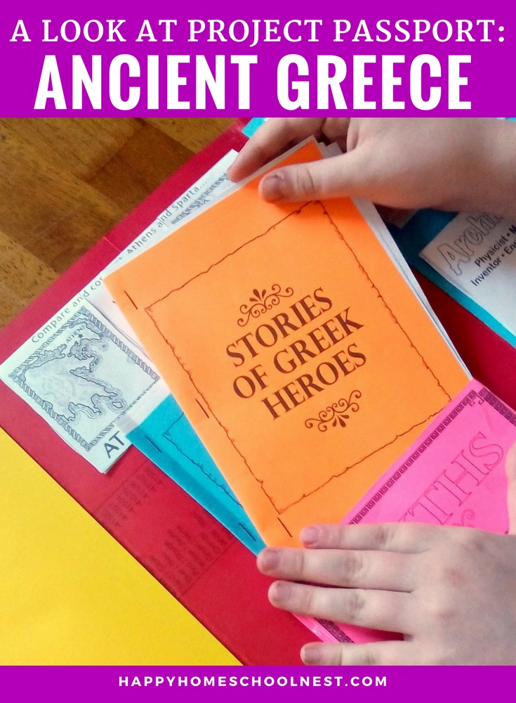 If you're looking for a fun hands-on history program look no further than Home School in the Woods. Their Project Passport series is perfect for studying world history. Take a look at one of the newest in the series - Project Passport: Ancient Greece.