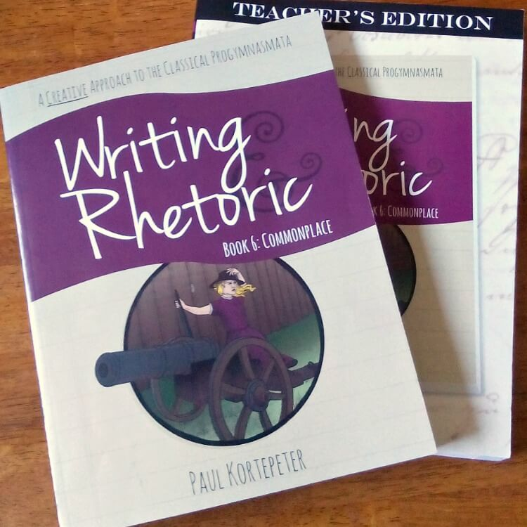 The Writing & Rhetoric series from Classical Academic Press is a Classical program (but you certainly don't need to follow the Classical methodology to use the series!). It's modeled after the progymnasmata which is a method of teaching students to speak and write persuasively. Designed by ancient teachers, it focuses on using a carefully sequenced series of exercises to teach these skills. Writing & Rhetoric: Commonplace is the sixth book in the series.