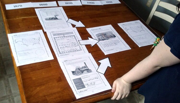 Are you looking for an interesting way to teach American history? You need to take a look at The Giant American History Timeline. It's such a fun way to learn about history! Have your kids complete various activity pages and then use them to build timelines that show how various historical events and people are connected. It's a great tool for undestanding historical context and for making history come alive!