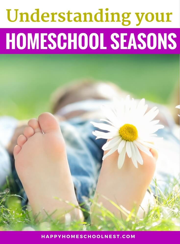 If you've homeschooled for any length of time you know that your homeschool has different needs at different times. It's important to recognize those changing times and address the needs you face at each step. I like to call these changing times your homeschool seasons.