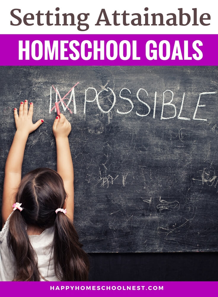 Are you ready to prepare for a new homeschool year? What's the first step you take? Usually, it's sifting through that pile of homeschool catalogs sitting on your shelf. Or maybe it's asking what other homeschool families will be using. Maybe you're not too sure about your teaching abilities for a certain subject so you buy 2 or 3 programs to cover one subject. But there is a better way to begin the process of planning for a successful homeschool year. The first step - deciding on the most important goals for each child. Let's learn how to set homeschooling goals.