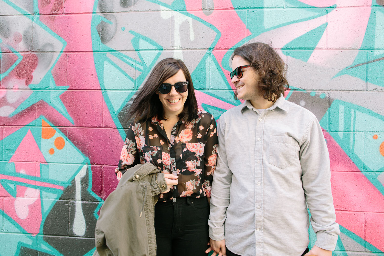 Toronto Kensington Market Engagement Photo