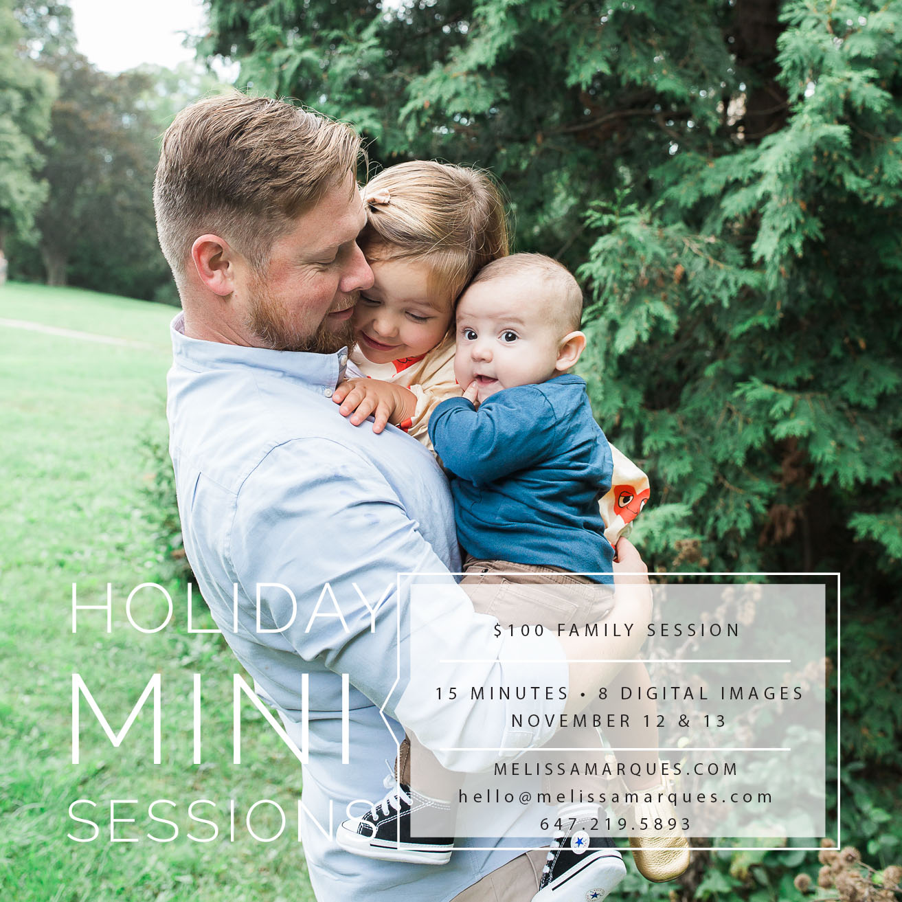 Hi everyone, doing these mini sessions this year. Contact me for more details or email me at Hello@melissamarques.com
