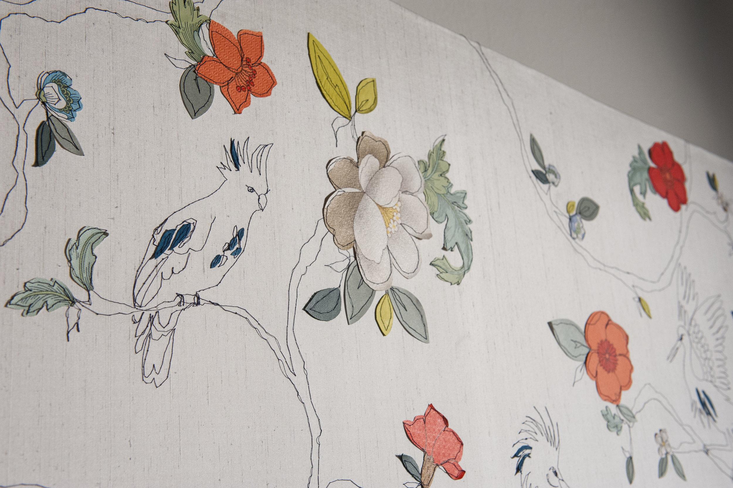 Tropical Garden Detail | 200cm x 200cm Wallpaper/ Embroidery