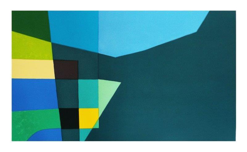 Blue Intersection | 85cm x 51cm Screenprint