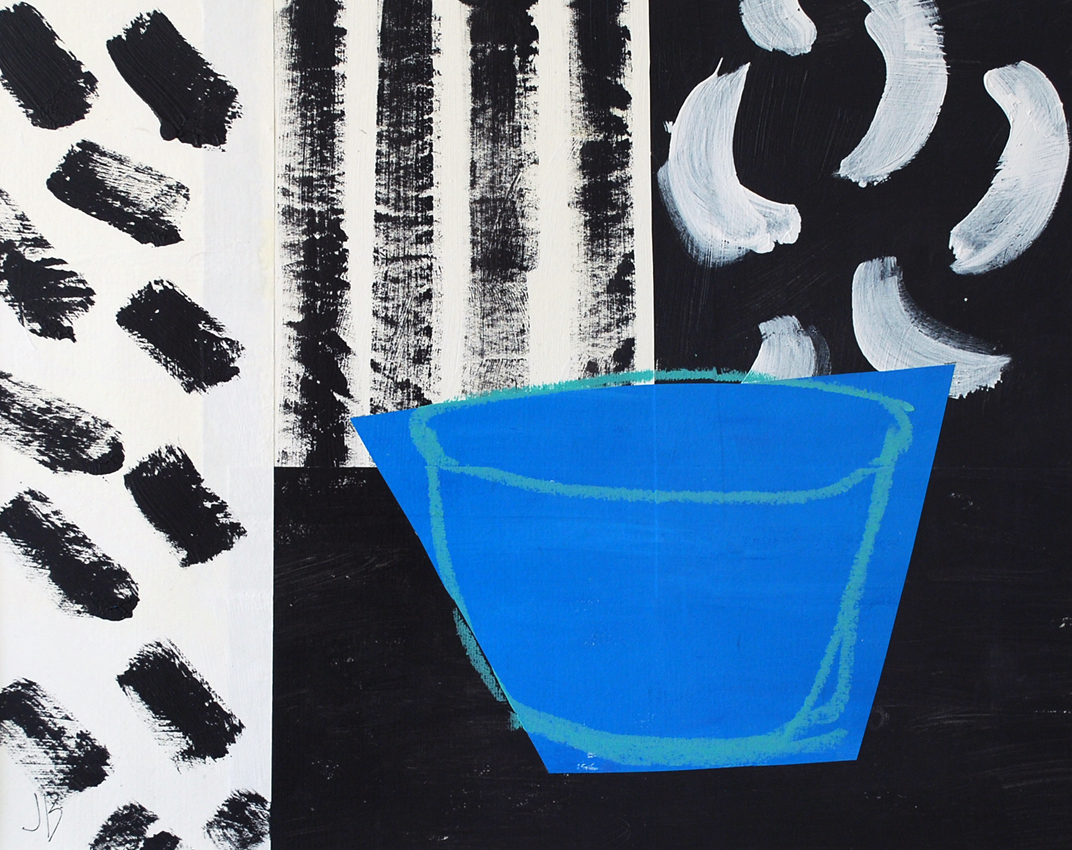 Blue Bowl Black & White | 60cm x 50cm