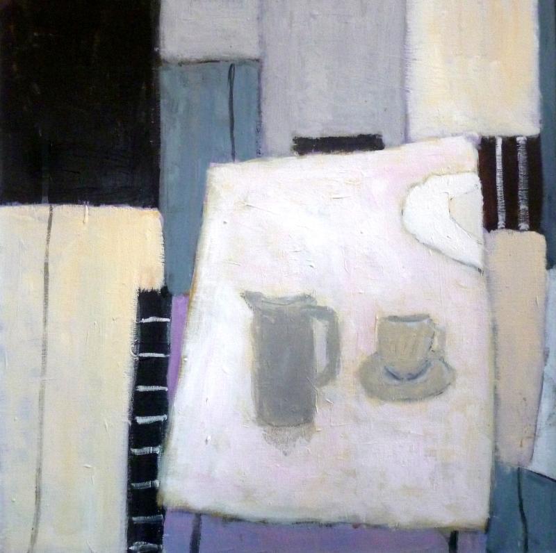 Coffee Break | 64cm x 64cm Oil on Canvas