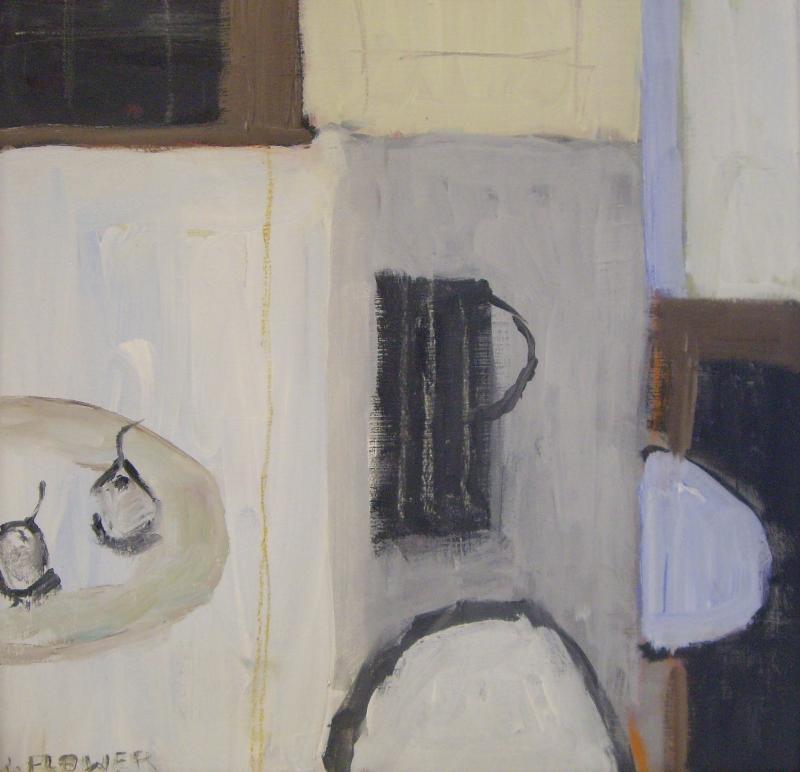 Striped Pot | 44cm x 44cm Oil on Canvas
