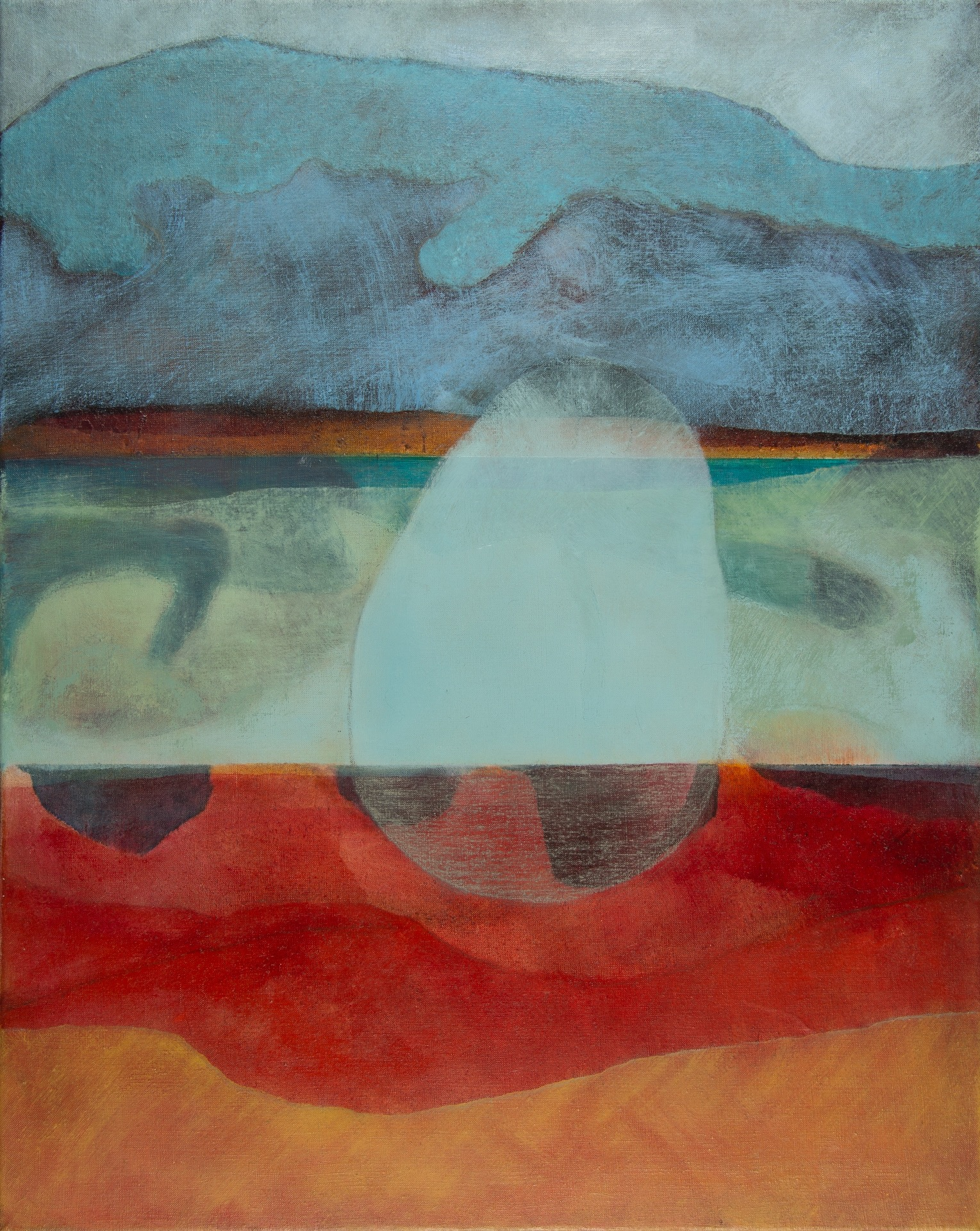 Pebble, Pendower Beach   76cm x 71cm Oil on Canvas