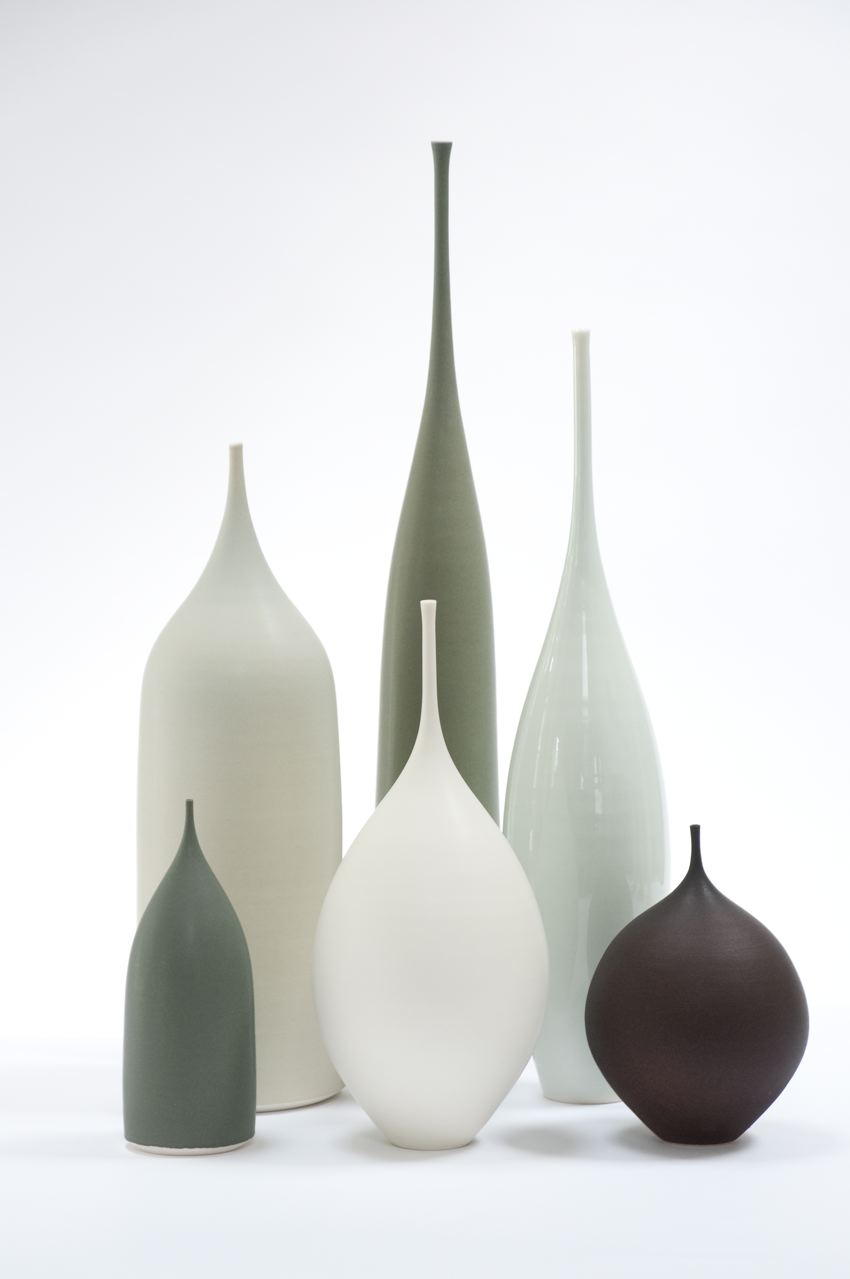 Hand Thrown Porcelain Vessels | From 15cm to 55cm