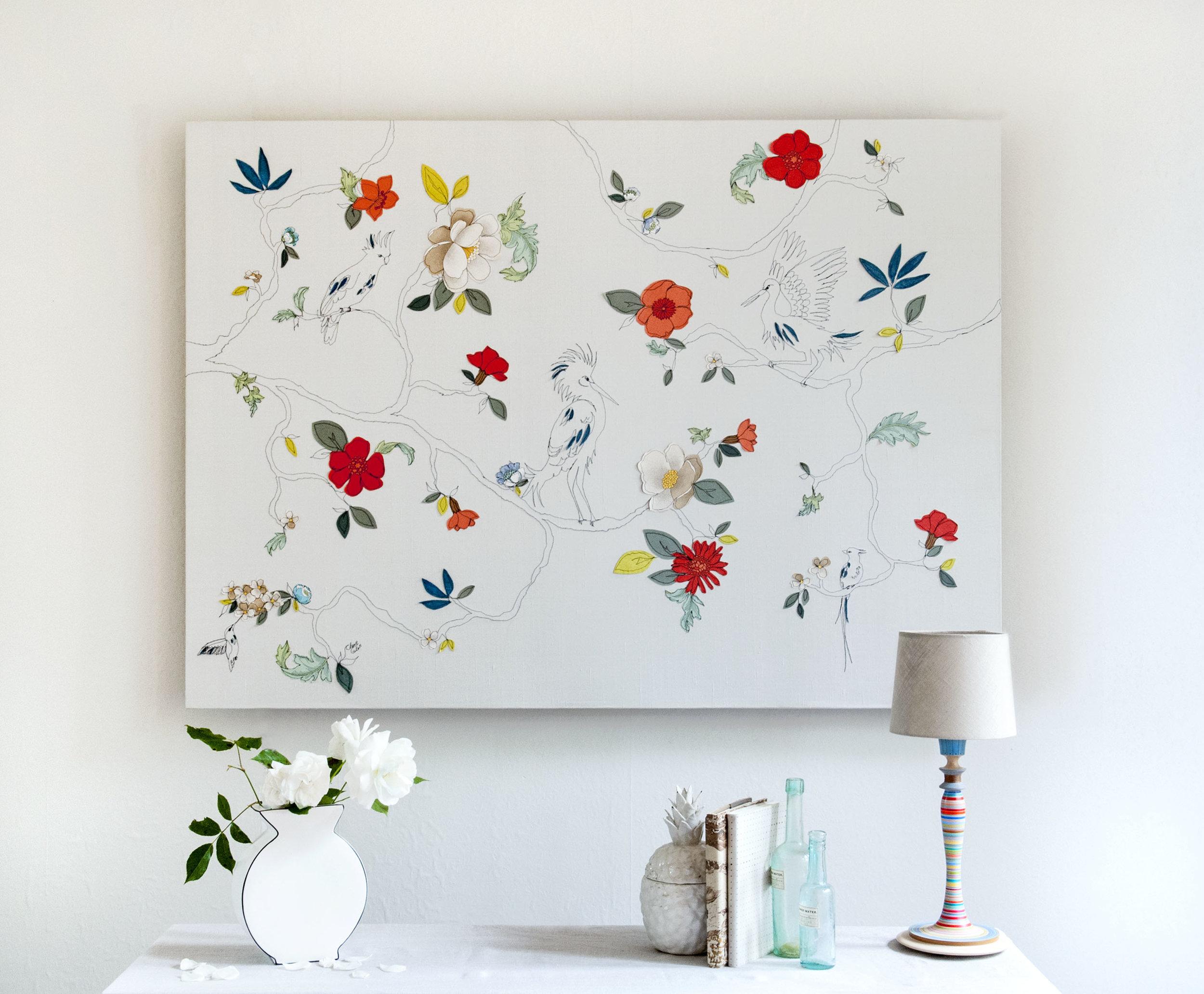 Tropical Garden | 200cm x 200cm Wallpaper/ Embroidery