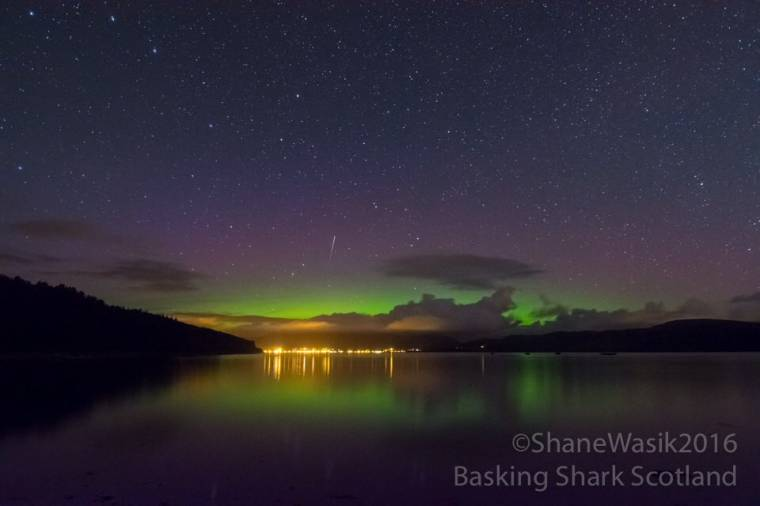 Aurora Borealis over Tighnabruaich seen from Carry Farm.