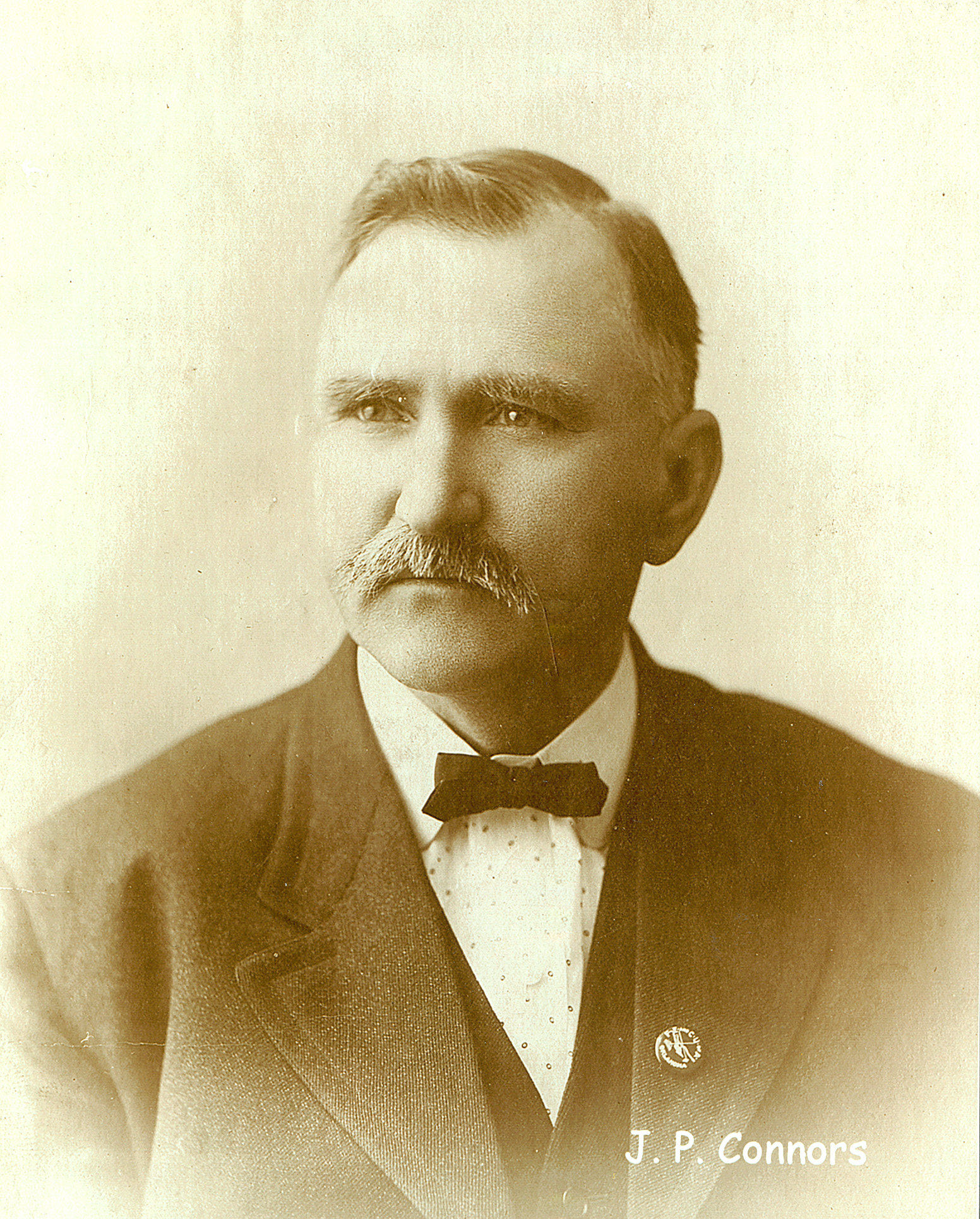 J.P. Connors  (1857 - 1942) Connors and Russell were both inducted into the Oklahoma Hall of Fame in 1932.