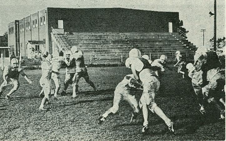 Football practice, 1963.