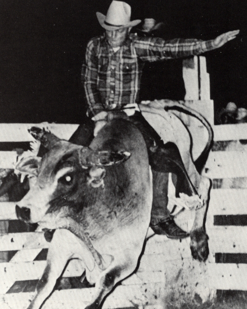 First rodeo club president, Mike Bratt, 1969.