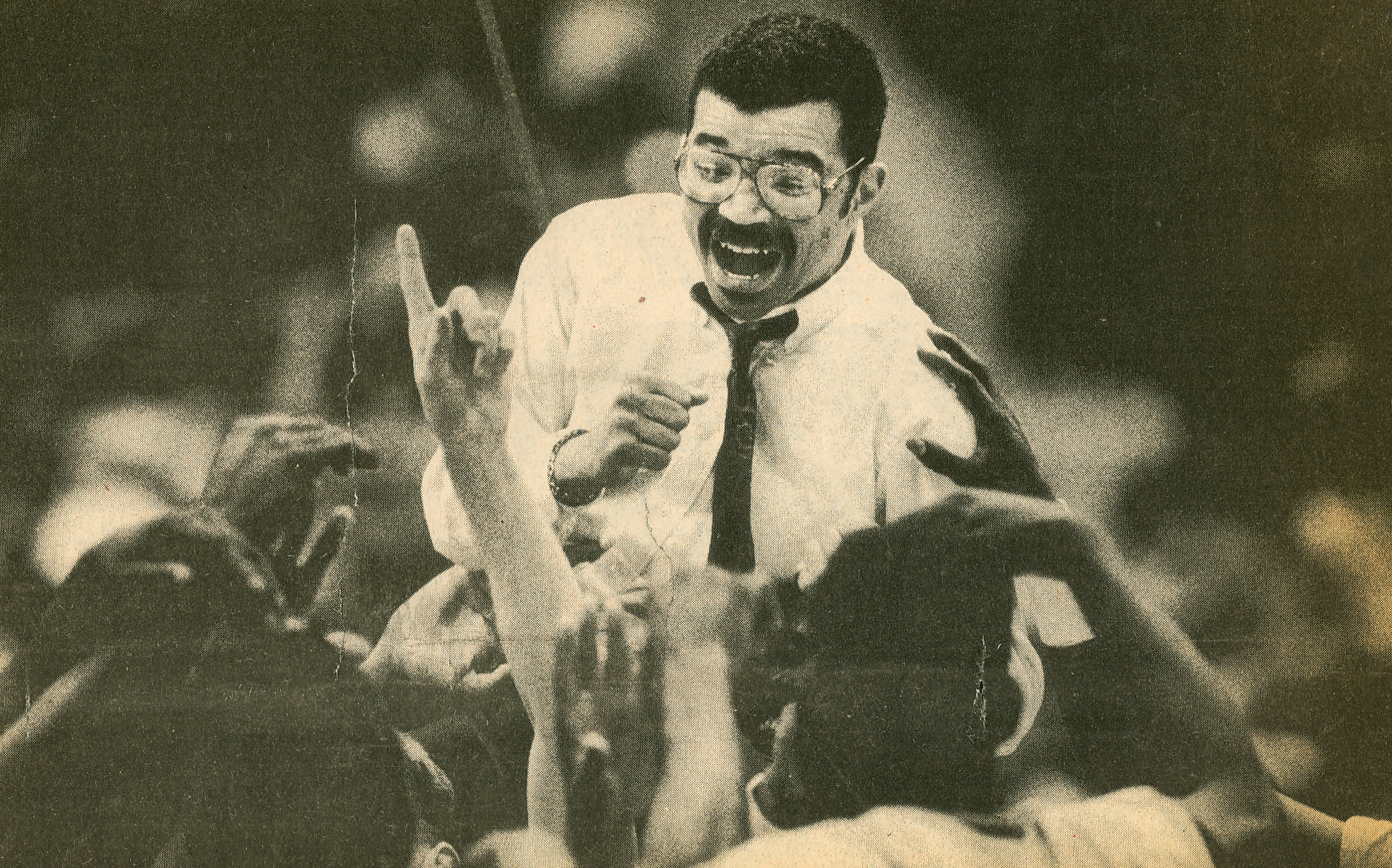 Coach Stepp, National Championship Title Game, 1990.