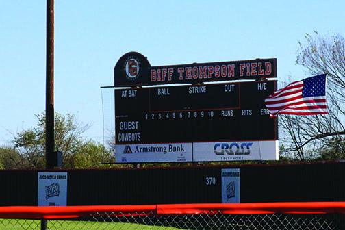New scoreboard, 2015.