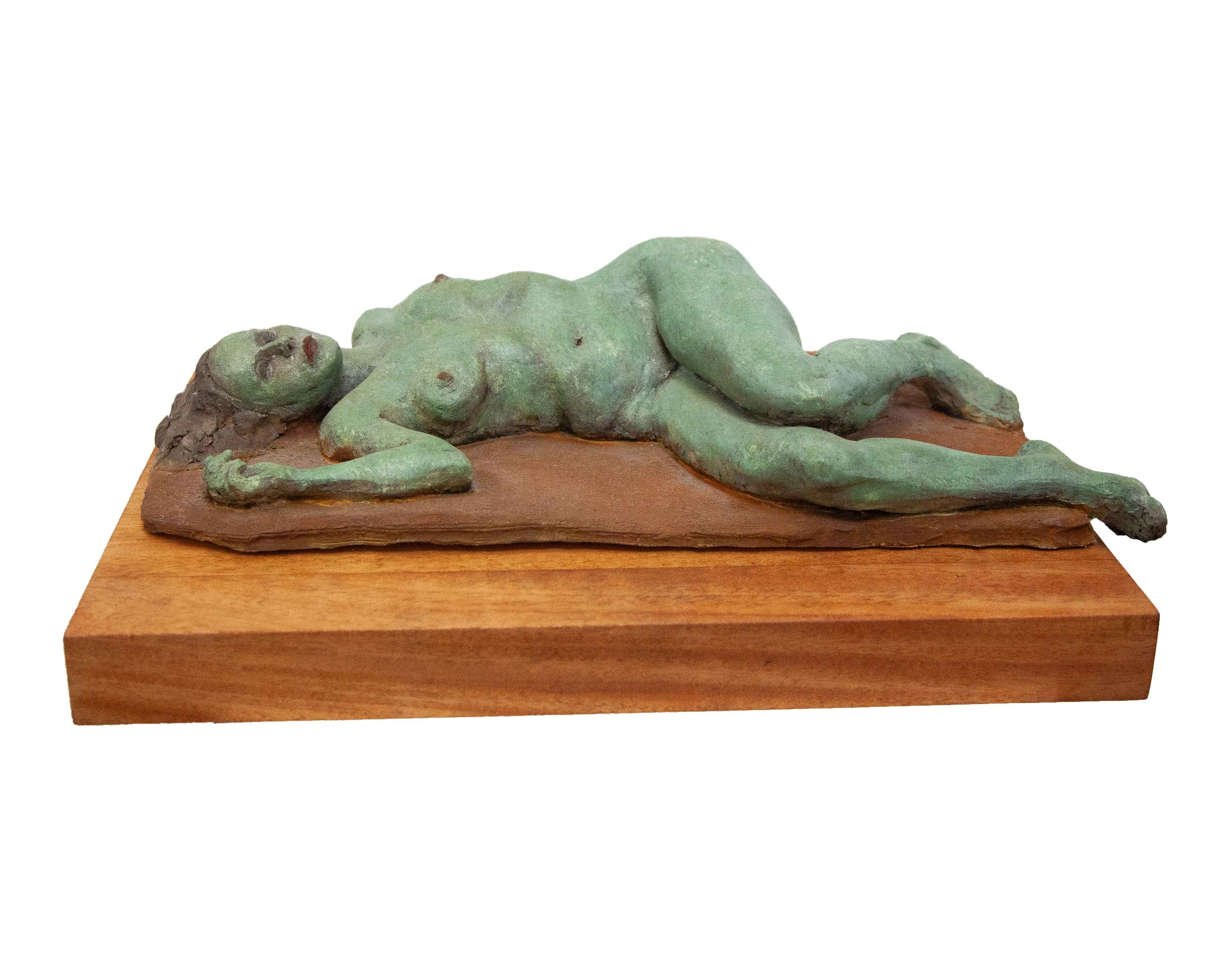 "Resting  High Fired Clay w/ Rusted Patina  15"" x 13.5"" x 18"""