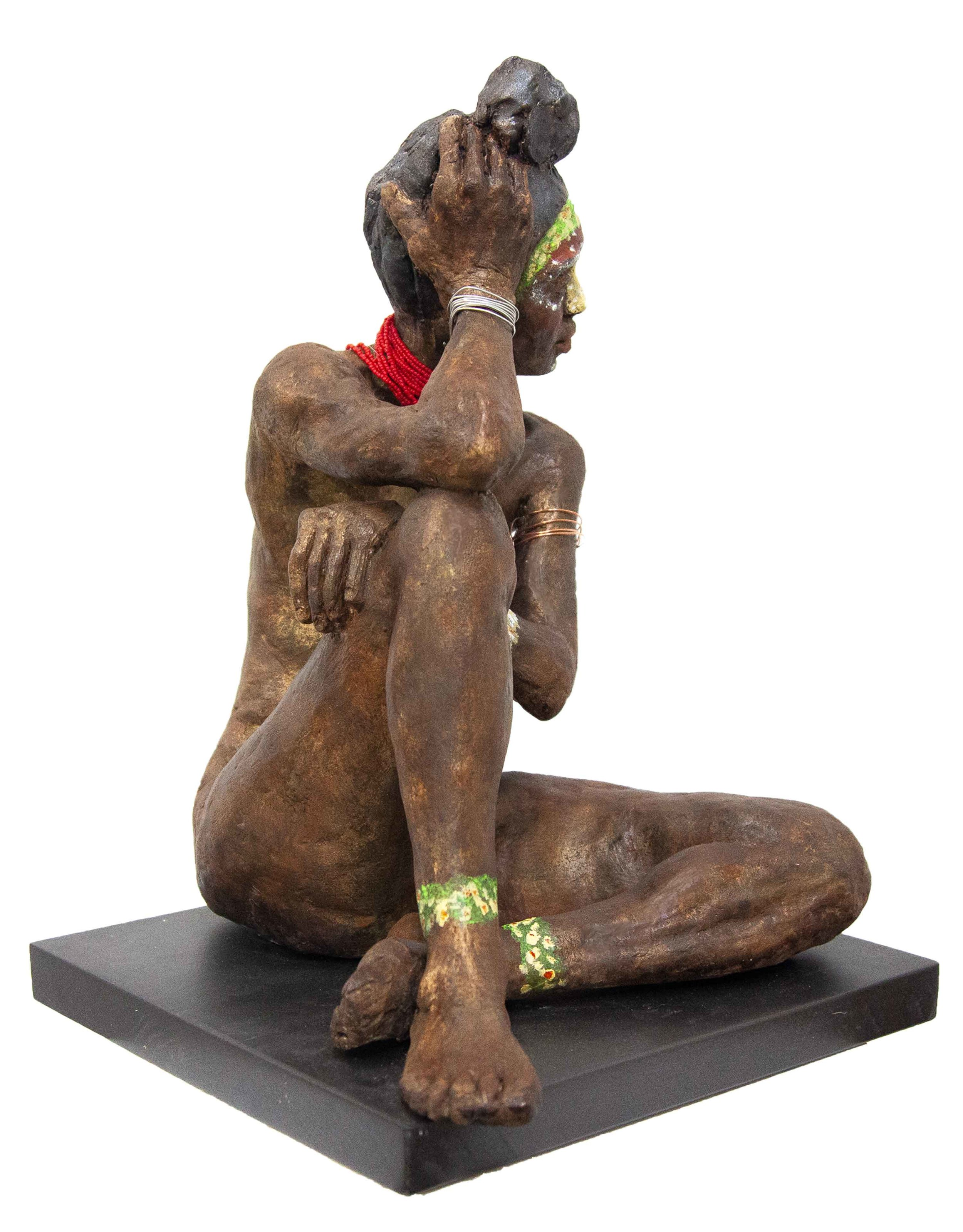 "LaToya  High Fired Clay w/ Found Objects and Patina  29"" x 35"" x 8"""