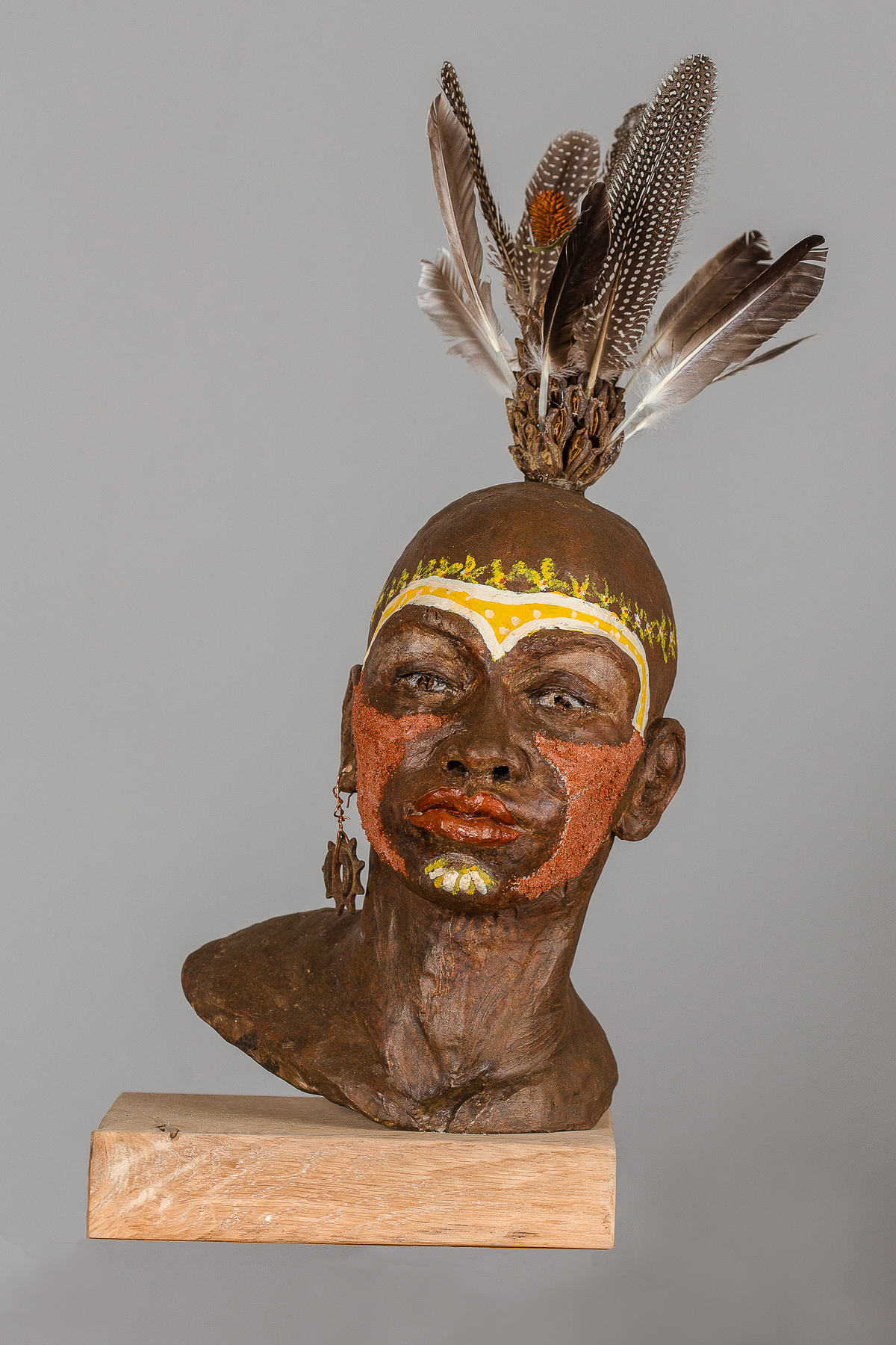Woman Warrior  High Fired Clay w/Found Objects