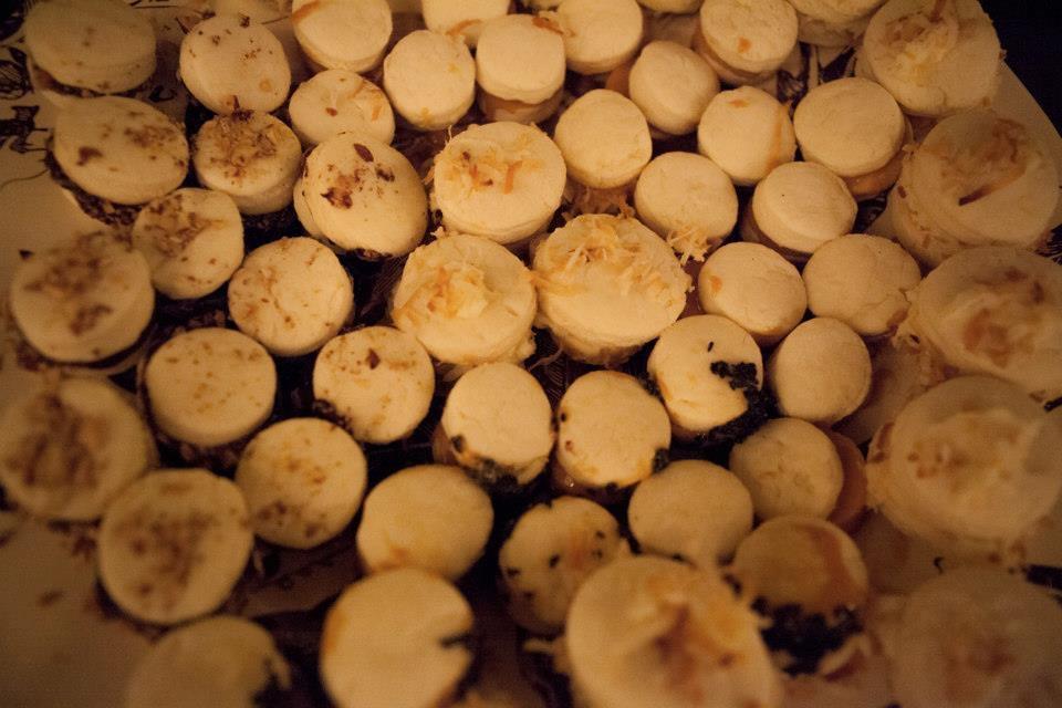 alfajores trio: dulce de leche, ganache, buttercream coconut photo by Monica Lek