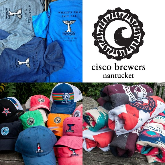 Beach to Brewery   2 Cisco hats, 2 pint glasses, 2 Tervis wine tumblers, 2 bottle koozies, 2 drink koozies, stickers, towel, tour for 2 people, beach bag, and $200 gift card for your favorite Cisco shirts and hoodies  Valued at $500