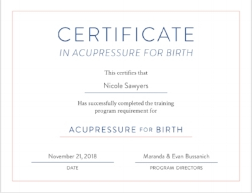 Accupressure for birth