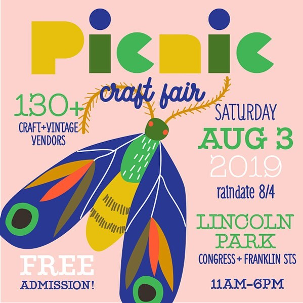 Come out THIS SATURDAY for Picnic! One of the few times of year you can shop Roar Shack in person... be there or be square! 🕺🏻🌞 @picnicportland #handmade #shoplocalportlandmaine #picnic #craftfair #portlandmaine
