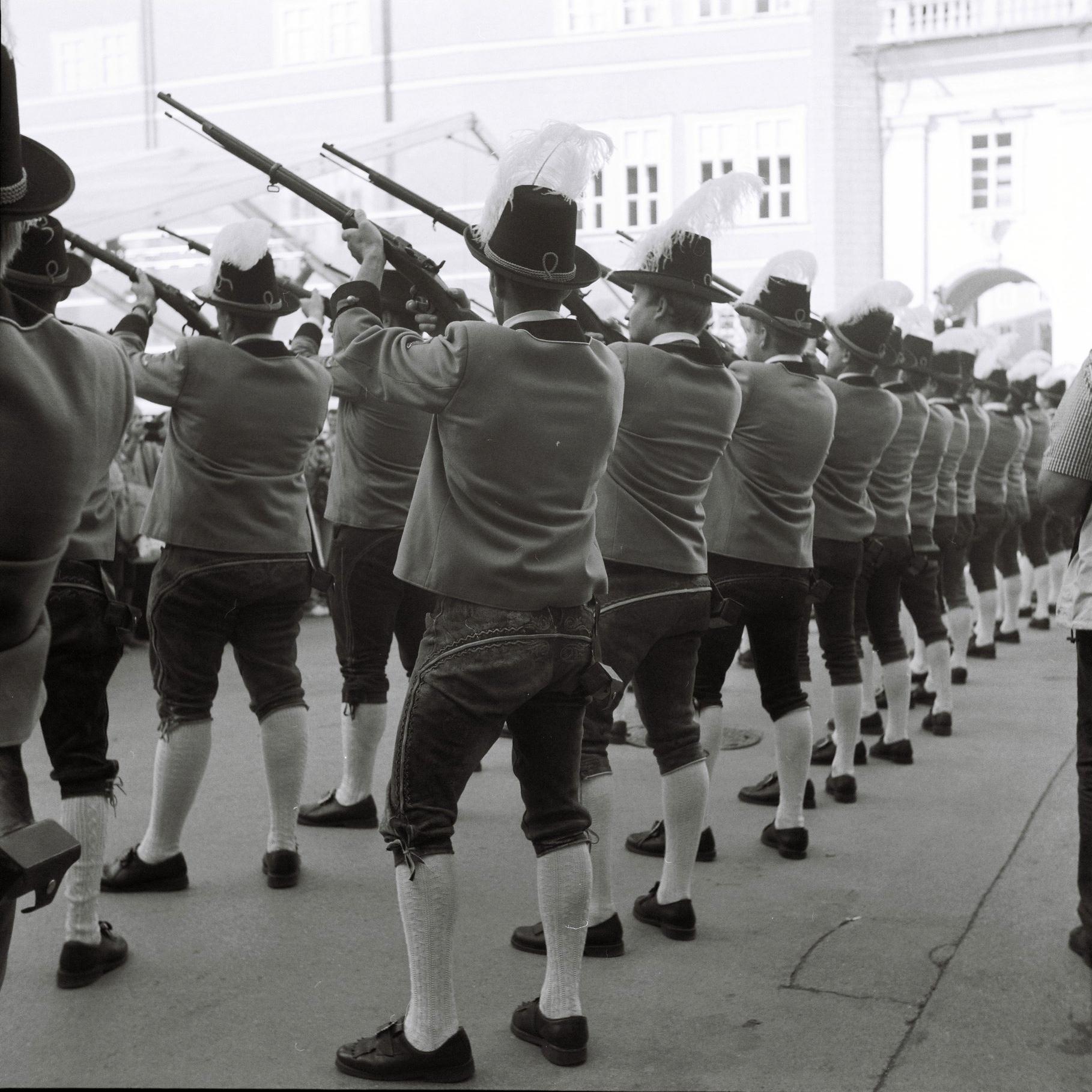Salzburg men fire guns on St. Rupert's Day